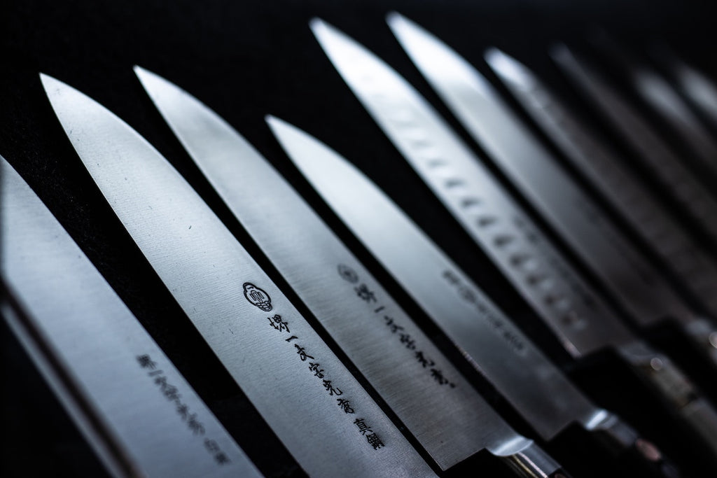 Japanese kitchen knives: a full set of Japanese knives