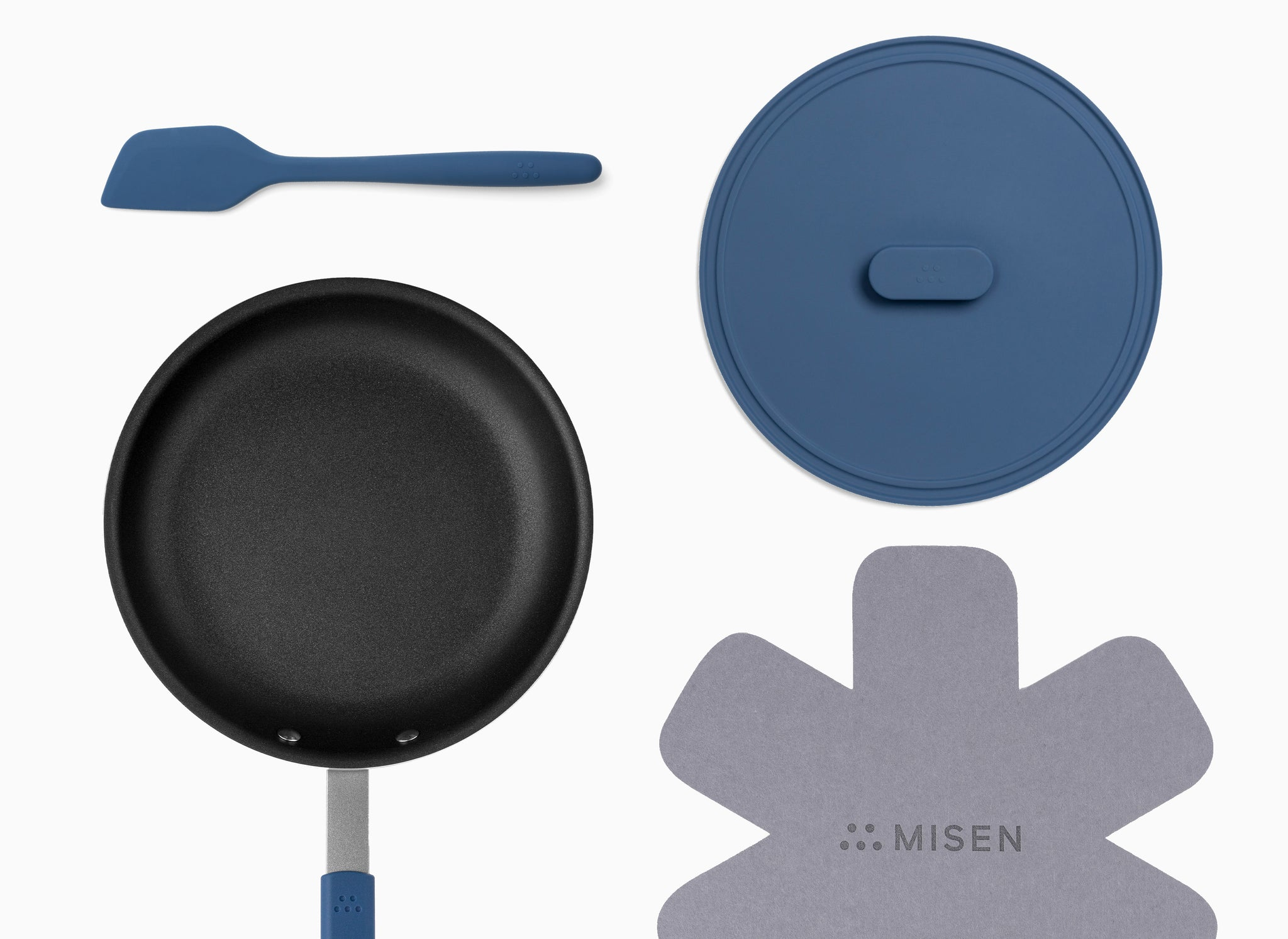 Misen nonstick bundle with 10inch nonstick pan, lid, and spatula