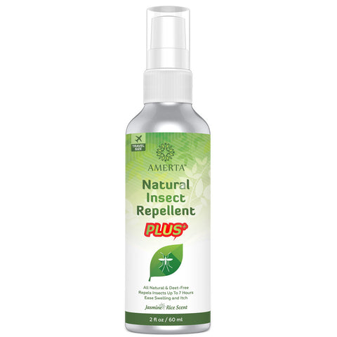 Amerta® All Natural Insect Repellent PLUS, 2 oz Travel Size, DEET FREE