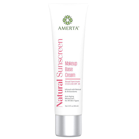 Amerta® All Natural Sunscreen Makeup Base Cream, Broad Spectrum UVA/UVB SPF 30