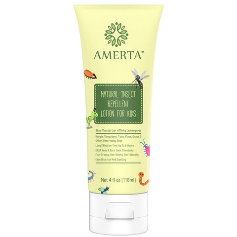 Amerta® All Natural Insect Repellent Lotion for Kids - DEET FREE