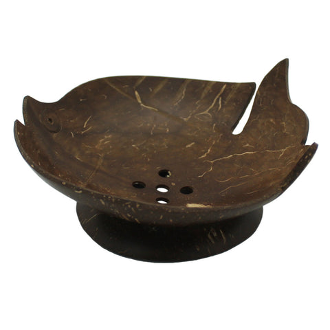 Amerta® Handcrafted Coconut Shell Soap Dish, Tropical Fish