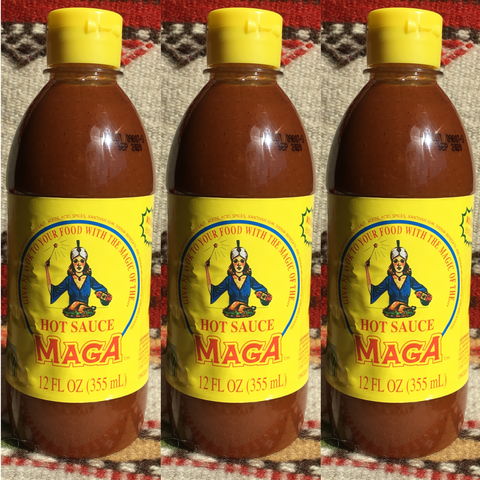 3 Bottles MAGA Hot Sauce from Mexico ~ Authentic Mexican Salsa MAGA Hot Sauces- Mucho-Mex