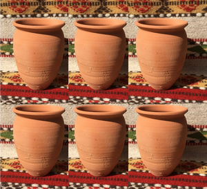 6 Hand Made Mexican Cantarito Clay Cocktail Mugs Mucho Otro ~ Gifts ~ Games- Mucho-Mex