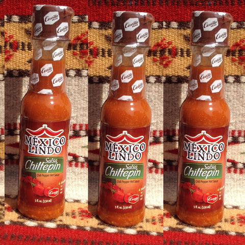 3 Mexico Lindo Salsa Chiltepin XTRA HOT Mexican Hot Sauce Hot Sauces- Mucho-Mex