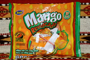 Jovy Mango Revolcado - Mexican Chili Covered Mango Lollipops Candy ~ Sweets ~ Desserts- Mucho-Mex