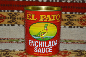 1 Empty RED El Pato Mexican Sauce Can ~ 28 Oz. For Crafts~Decor~Planters Mucho Otro ~ Gifts ~ Games- Mucho-Mex