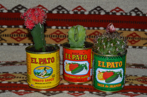 12 Empty EL PATO Cans ~ 7 3/4 Oz. for Crafts~Decor~Parties~Planters Mucho Otro ~ Gifts ~ Games- Mucho-Mex