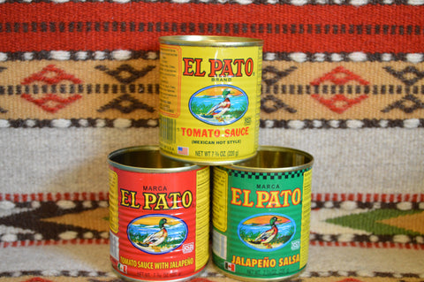 3 Empty EL PATO Cans ~ 7 3/4 Oz. for Crafts~Decor~Parties~Planters Mucho Otro ~ Gifts ~ Games- Mucho-Mex
