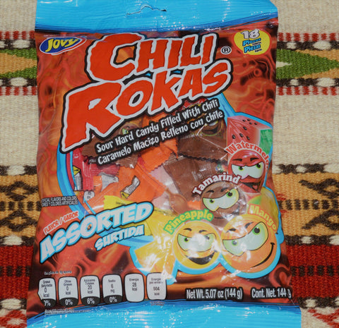 Chili Rokas Mexican Sour Hard Candy Filled With Chili Powder Candy ~ Sweets ~ Desserts- Mucho-Mex