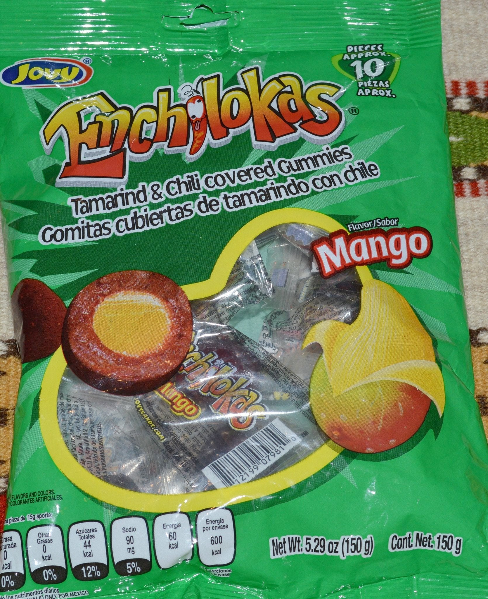 Enchilokas Tamarind Chili Covered MANGO Gummies Mexican Candy Candy ~ Sweets ~ Desserts- Mucho-Mex