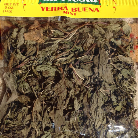 .5 Oz. Yerba Buena Hierbabuena Spearmint Leaves Tea Herbs Chilis ~ Seasonings ~ Herbs- Mucho-Mex