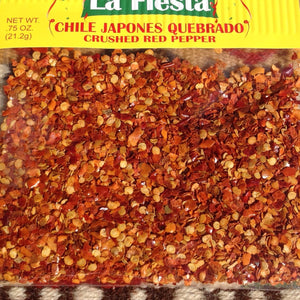 .75 ounces Chiles Japones Quebrado - Crushed Red Pepper Chilis ~ Seasonings ~ Herbs- Mucho-Mex