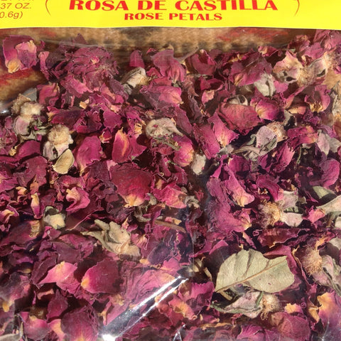Fresh and Bright .4oz Rosa De Castilla Food Grade Rose Petals Chilis ~ Seasonings ~ Herbs- Mucho-Mex