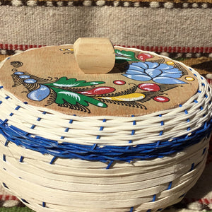 Authentic Mexican Decorative Wicker Tortilla Warmer ~ Blue, Red or Aqua or Pink Mucho Otro ~ Gifts ~ Games- Mucho-Mex