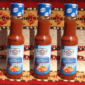 3 Bottles Mexico Lindo Salsa 7 Mares - Seafood Hot Sauce Hot Sauces- Mucho-Mex