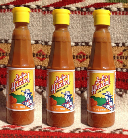 3 Salsa Huichol Authentic Mexican Habanera Hot Sauce Hot Sauces- Mucho-Mex