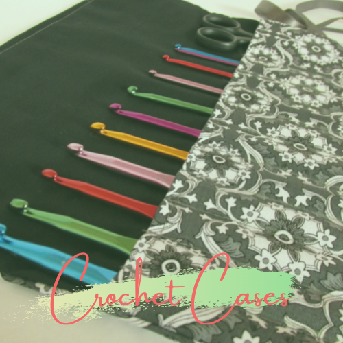 Bee Print Crochet hook case bby Olganna