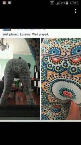 Seam meets wrong at bum on leggings LulaRoe
