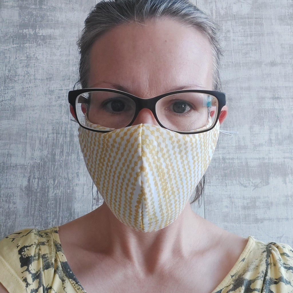 Face Mask in yellow print