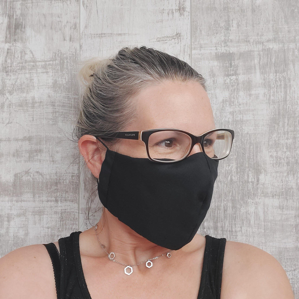 Plain Neutral Face Masks with a space to add a filter.