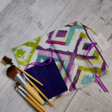 👀 - SALE - Make Up Bag - Purple Green - Olganna