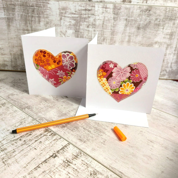 Patchwork Heart 💌 Greetings Card Pack of 2 - Olganna