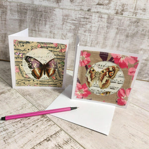Butterfly Pack 💌 Greetings Card Pack of 2 - Olganna