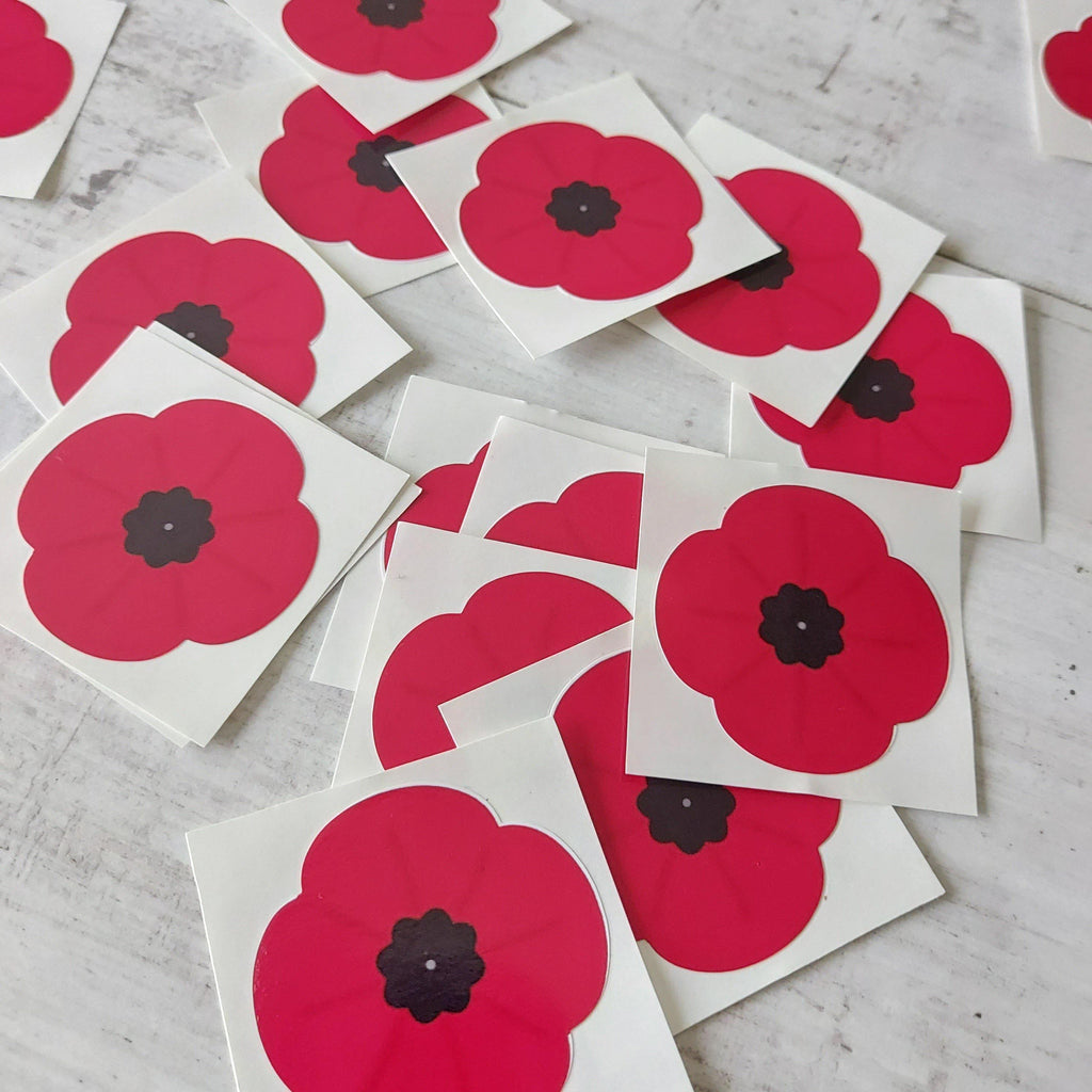 ❤️ Poppy Car Window Decal - Full Amount £1 donated to Poppy Appeal