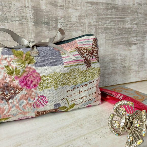 Vintage Print Make Up Bag - Olganna