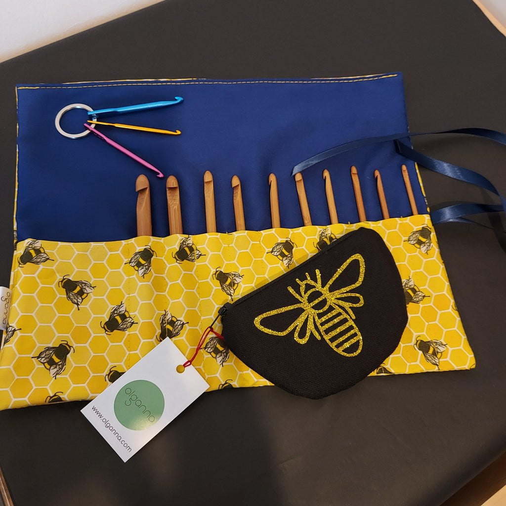 Bee Crochet Hook Gift Set