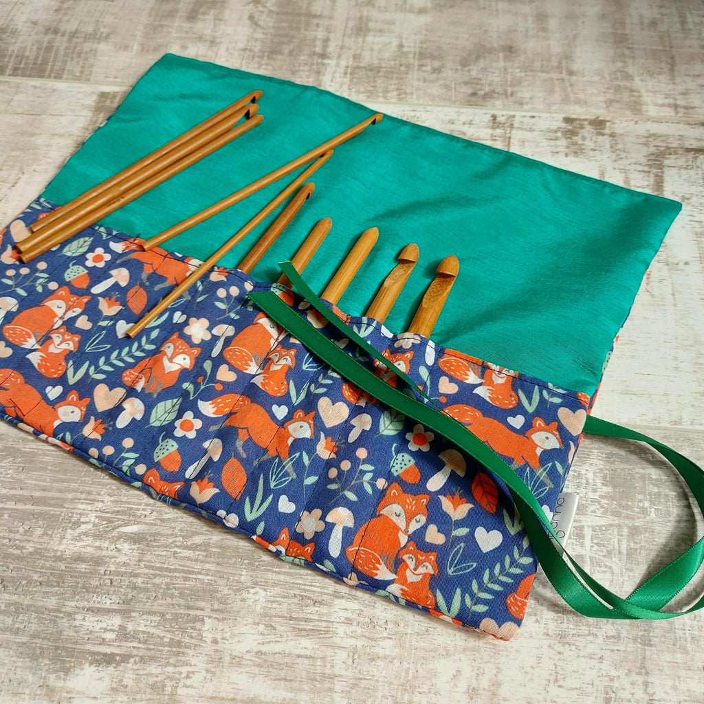 Fox print Crochet Hook Case