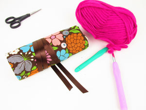 Crochet Hook Case with Bamboo Hooks