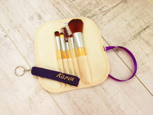 Personalised make up brushes gift set. Make up brushes