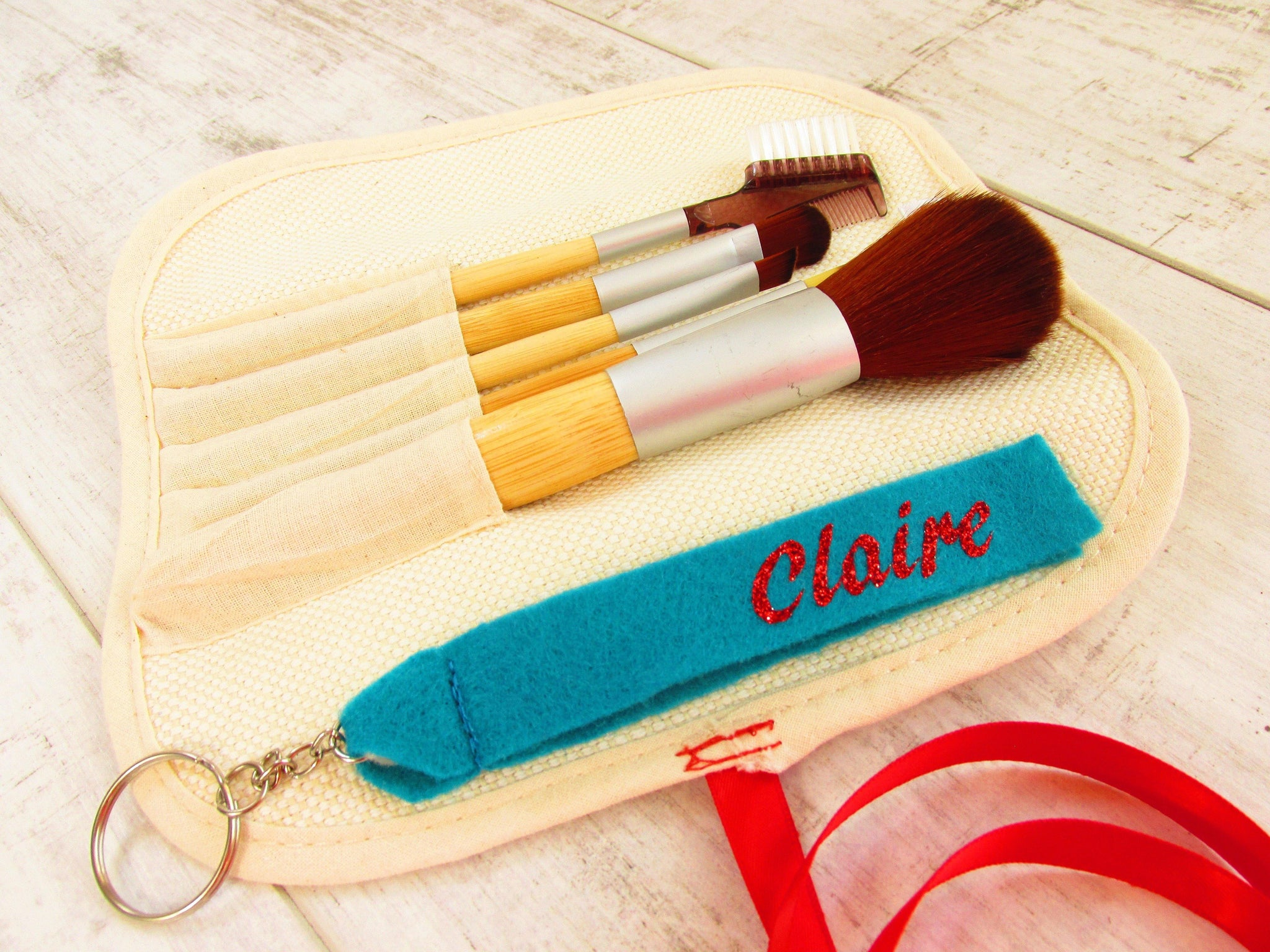Personalised make up brushes gift set. Set of 5 Make up brushes