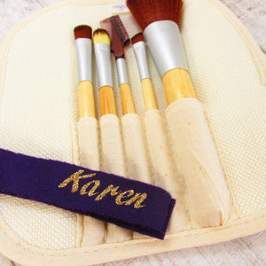 personalised Set of 5 Make up brushes