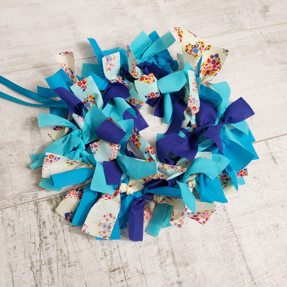 Butterfly Wreath Kit In Blues and Cream