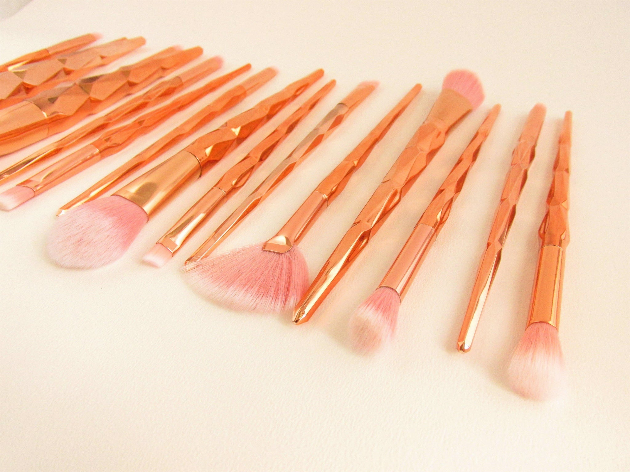 Rose Gold Make Up Brushes.