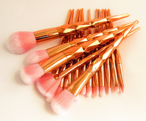 Rose Gold Make Up Brushes. - Olganna