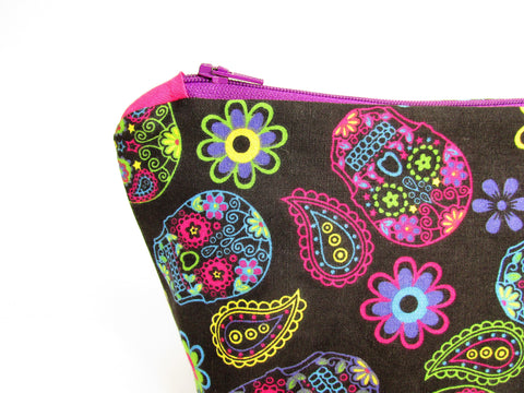 Sugar Skull Gift Set featuring a make up bag and coin purse, Olganna makes gifting easy!