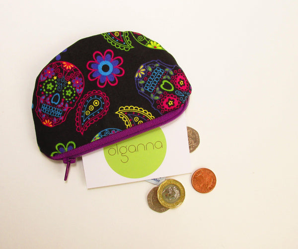 Small Change Pouch, Card Pouch, Earbud Pouch, Change Purse, Credit Card Case, Womens Change Purse