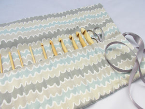 Soft Greys Crochet Case. - Olganna