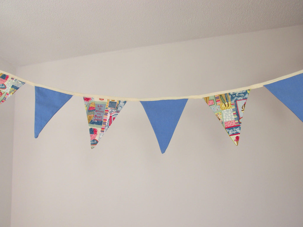 Summer Bunting with Ice Cream Print