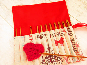 Paris Print Crochet Hook Set - Letterbox Gifts for Lockdown Birthday.