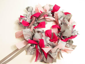 Pink and Grey DIY Wreath Kit.