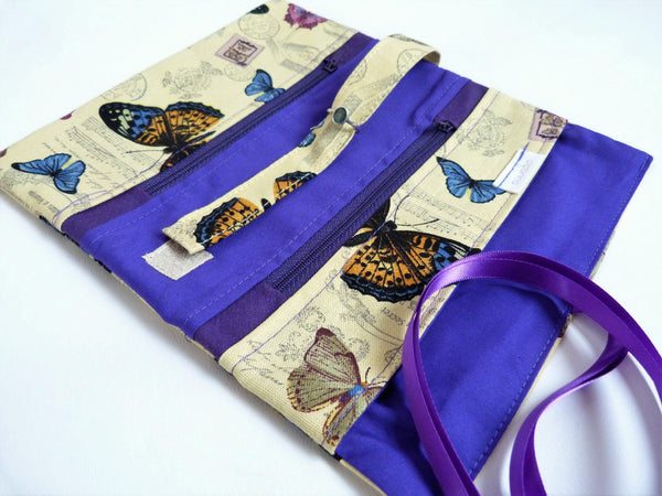 Jewellery Wrap, Mothers Day Gift Idea, Best Friend Gift, Travel Jewelry Roll, UK Handmade Gift