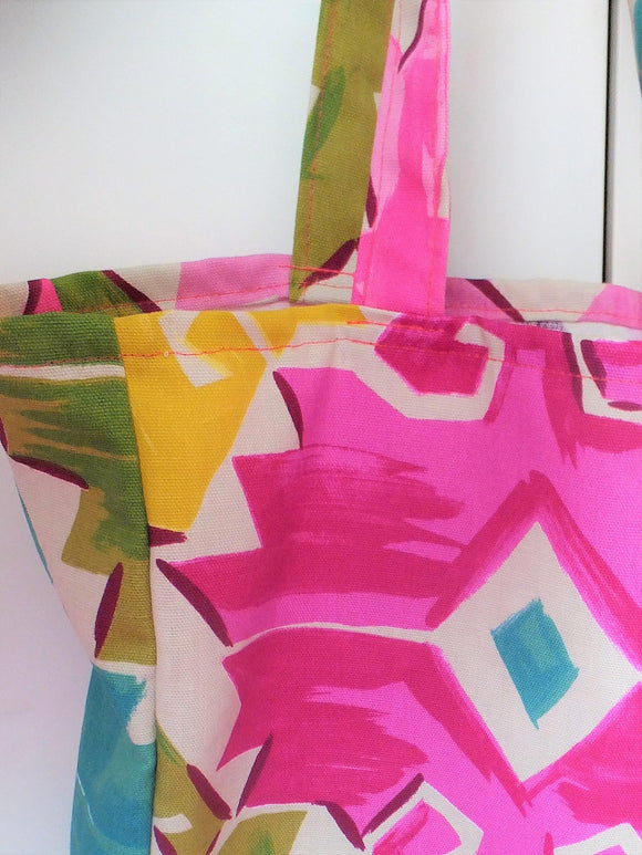 Tote Bag - Brights to cheer up dull winter days. Available in 2 sizes. - Olganna