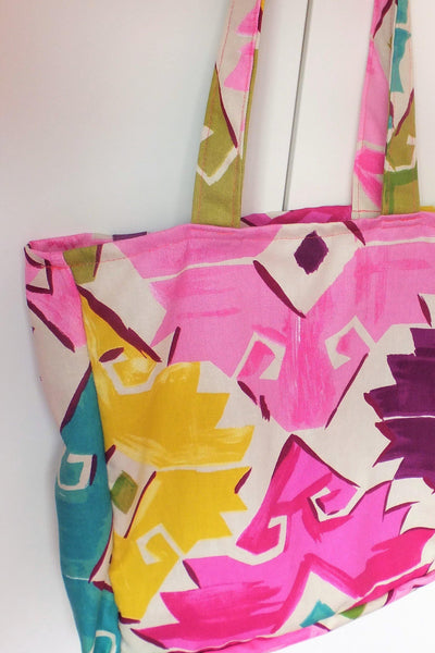 Tote Bag - Brights to cheer up dull winter days. Available in 2 sizes.