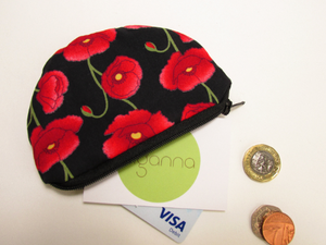 ❤️ Poppy Coin Purse - £5 donated to the Poppy Appeal