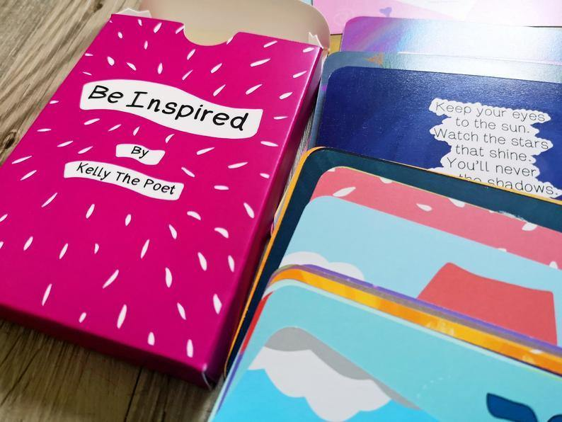 Be Inspired Poem Cards by Kelly the Poet